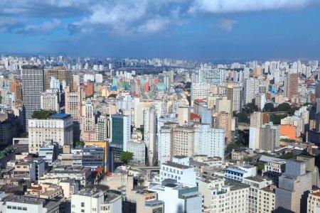 Foto de Centro de Sao Paulo vista aérea - Imagen libre de derechos
