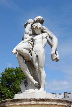 Spartacus Statue in Tuileries Gardens of Paris