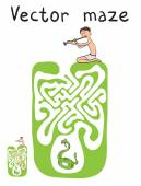Vector Maze Labyrinth with Snake and Fakir