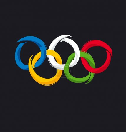 olympic rings icon. vector illustration