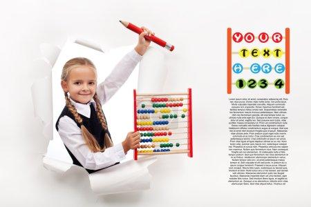 Little girl preparing to go back to school