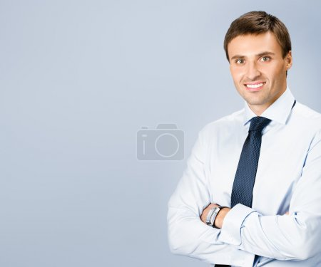 Portrait of business man, with copyspace