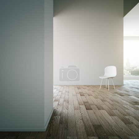 Blank walls and wooden floor