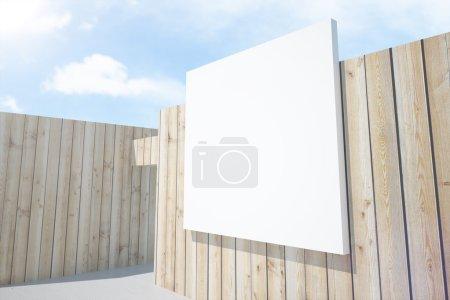 Blank white billboard