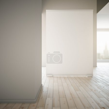 Blank poster in room