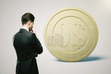 Financial concept dollar light
