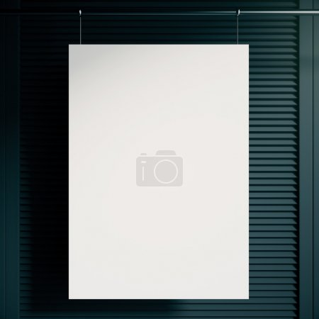 Black blinds and poster