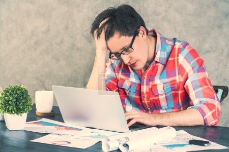 Stressed caucasian male
