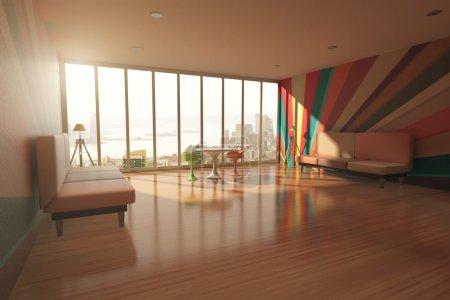Colorful room interior