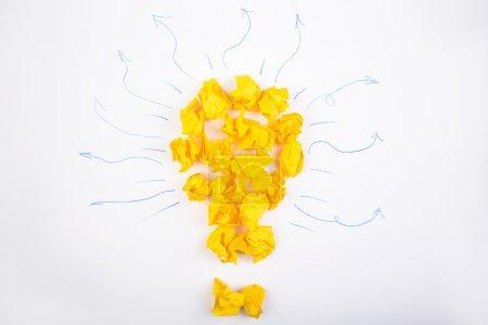 Idea concept lightbulb and doodles
