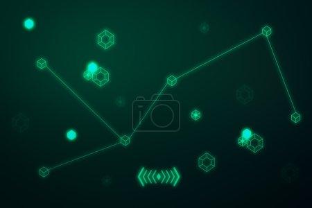 Tech patterns on green