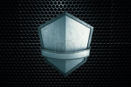 Blank silver shield