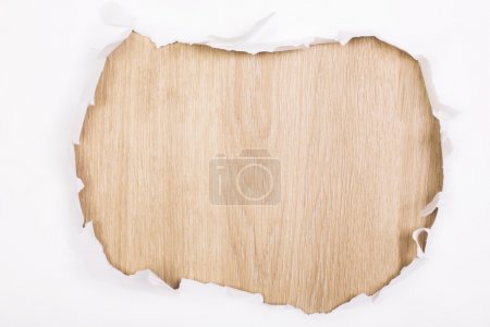 Paper hole wooden surface