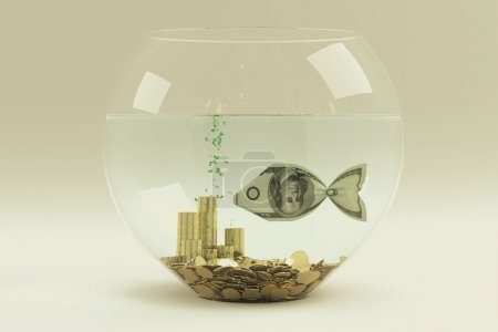 Dollar in form of a fish