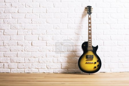 Electric guitar in interior