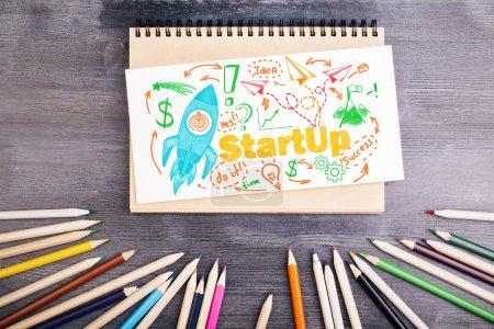 Start up concept desktop