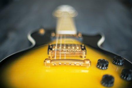 Blurry electric guitar