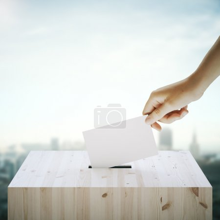 Voting on city background