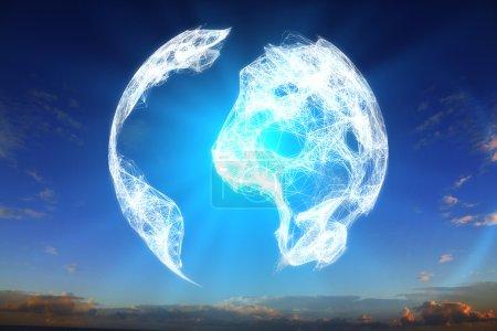 Digital terrestrial globe