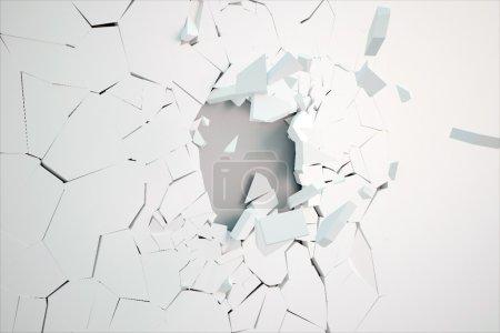 Broken wall surface