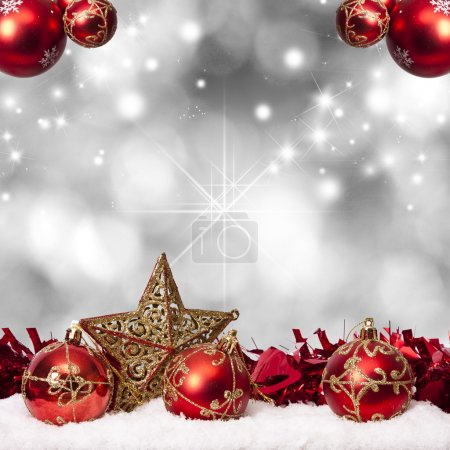 Photo for Funds with traditional Christmas decoration and Christmas holidays - Royalty Free Image