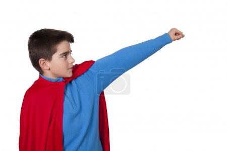 Photo pour Superman isolated on white background - image libre de droit