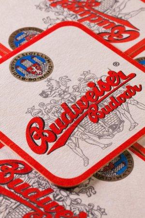 Beermats from Budweiser beer