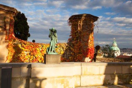 Autumn in Paradise Garden near Prague Castle.