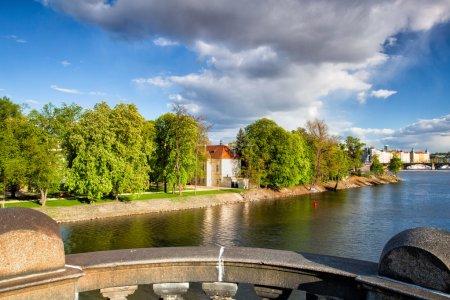 View from Legion Bridge on Strelecky Island, Prague.
