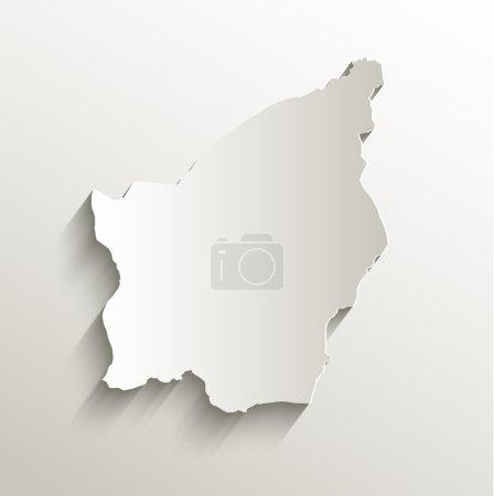 Photo pour Carte Saint-Marin papier carte 3D naturel raster - image libre de droit