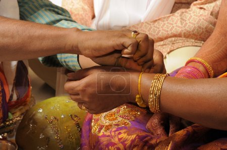 Indian People hands at Prayer