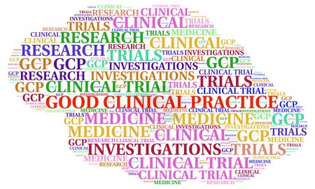 Good Clinical Practice (GDP) concepts illustrate in word cloud.