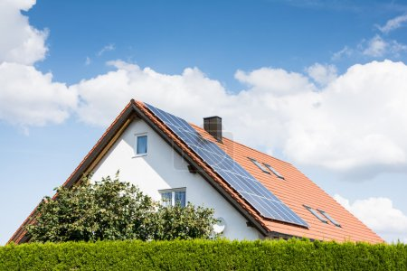 Modern House with Photovoltaic System