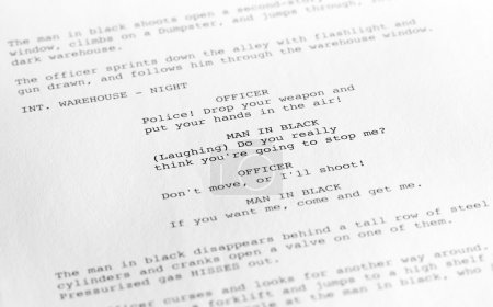 Screenplay close-up 1 (generic film text written by photographer