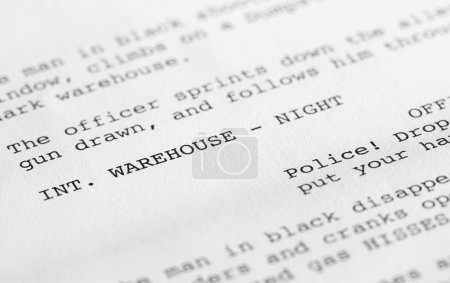Screenplay close-up 2 (generic film text written by photographer
