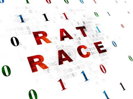 Business concept: Rat Race on Digital background