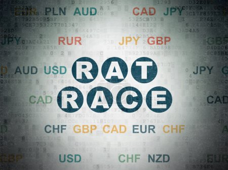 Business concept: Rat Race on Digital Data Paper background
