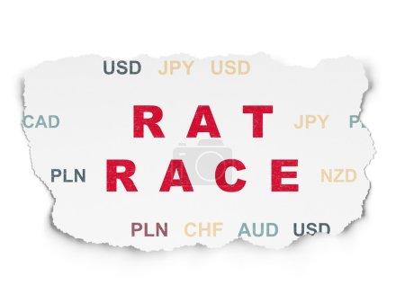 Finance concept: Rat Race on Torn Paper background