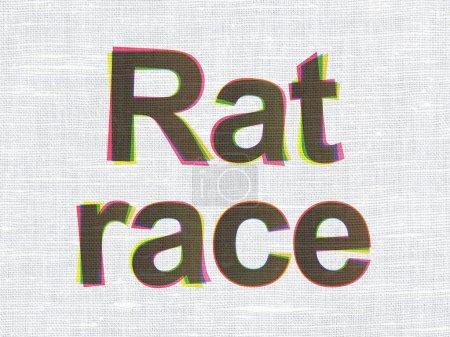 Political concept: Rat Race on fabric texture background