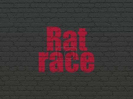 Politics concept: Rat Race on wall background