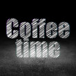 Time concept: Glowing text Coffee Time in grunge d...