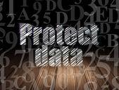 Bezpečnostní koncepce: ochrana dat v temné místnosti grunge
