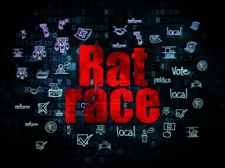 Political concept: Rat Race on Digital background