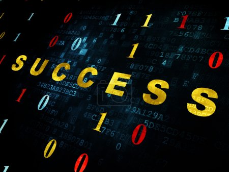 Finance concept: Success on Digital background