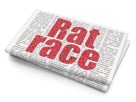 Finance concept: Rat Race on Newspaper background
