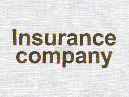 Insurance concept: CMYK Insurance Company on linen...