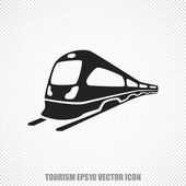 Travel vector Train icon Modern flat design