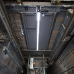 Inside of roping Elevator, Lift box builting in hi...