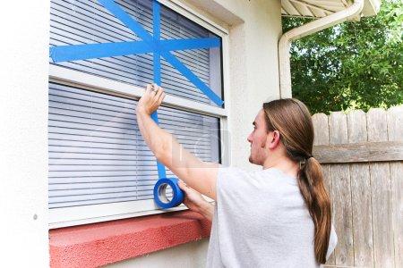 Taping Windows for Hurricane