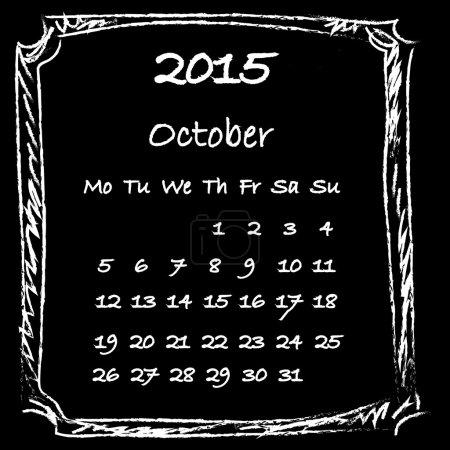 Calendar 2015 October
